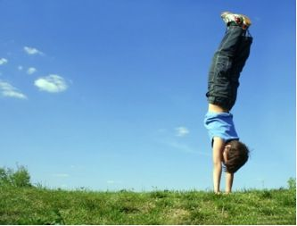 Inversions for kids yoga