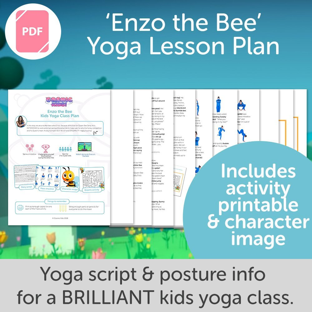 Enzo the Bee Kids Yoga Class Plan - NEW STYLE