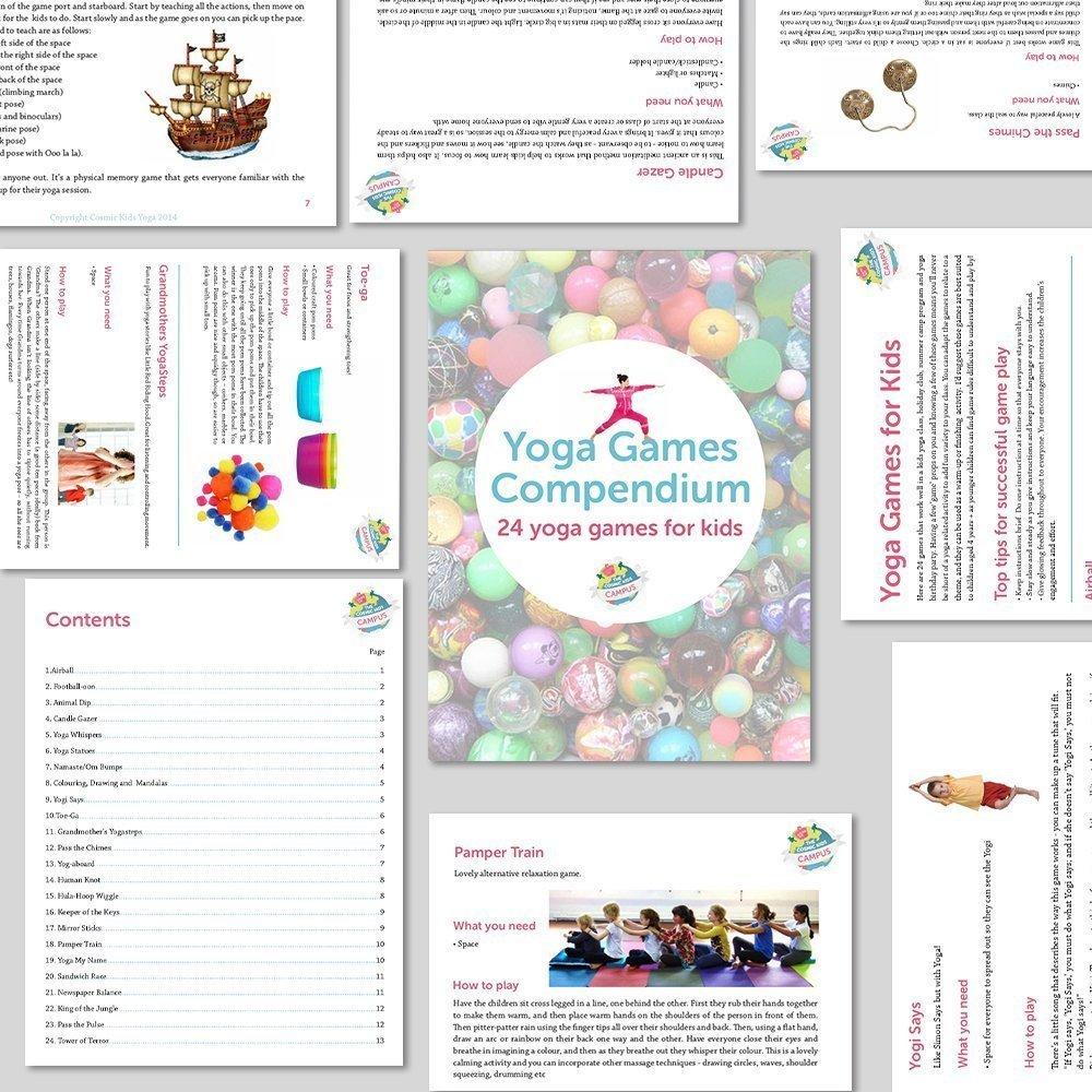 Yoga Games Compendium 24 For Kids