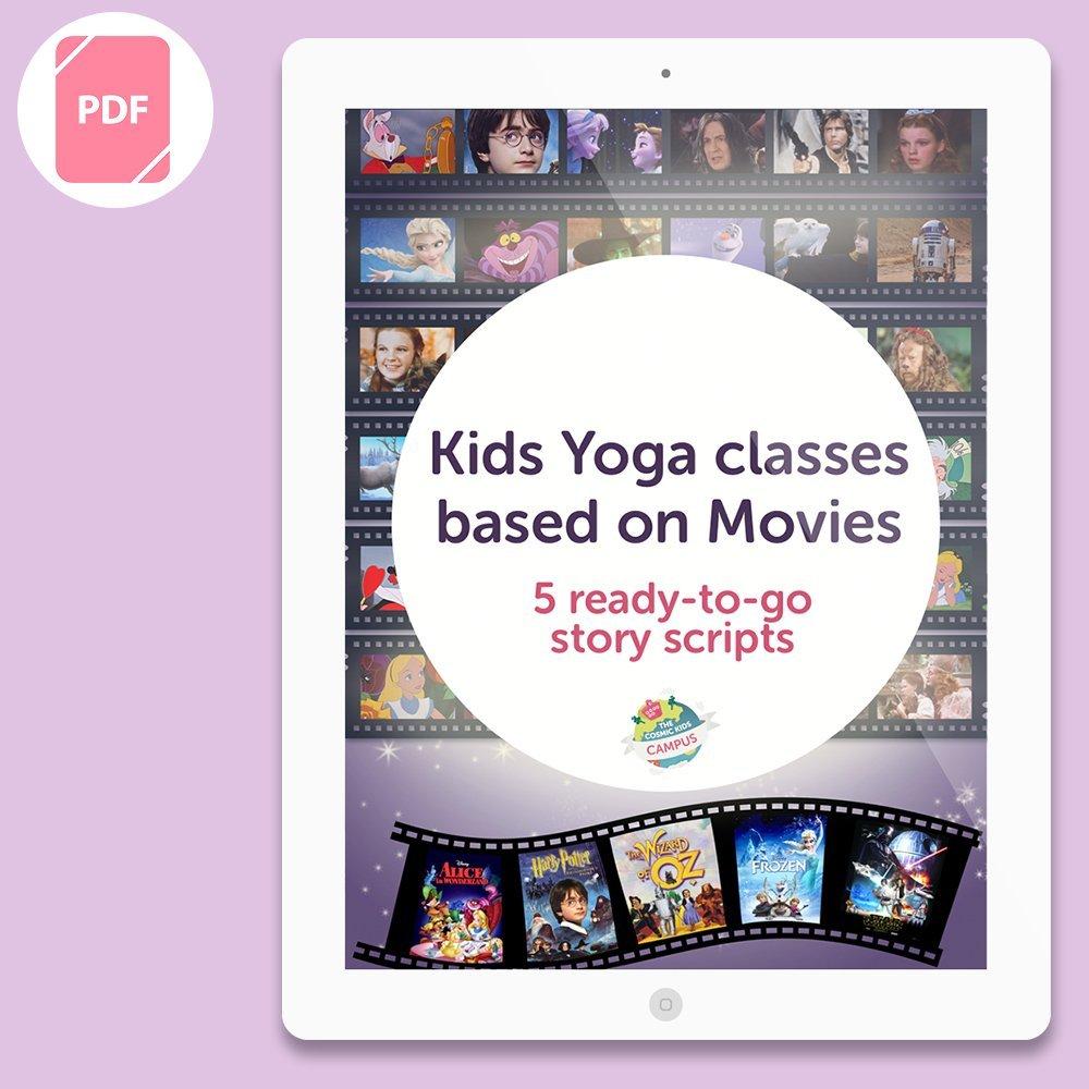 Kids Yoga Class Scripts based on Movies (5 script bundle)
