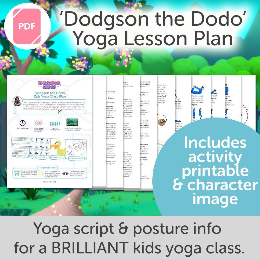 Dodgson the Dodo Kids Yoga Class Plan - NEW STYLE!