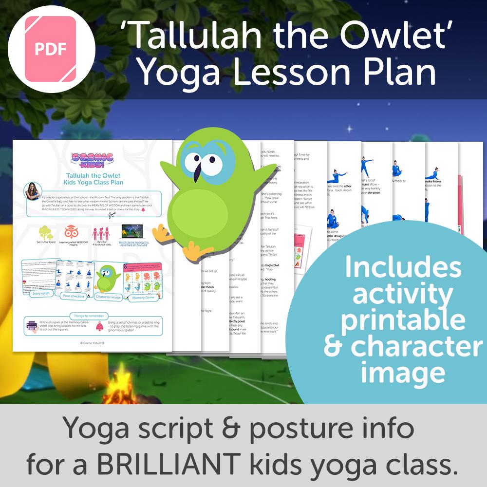 Tallulah the Owlet Kids Yoga Class Plan – NEW STYLE!