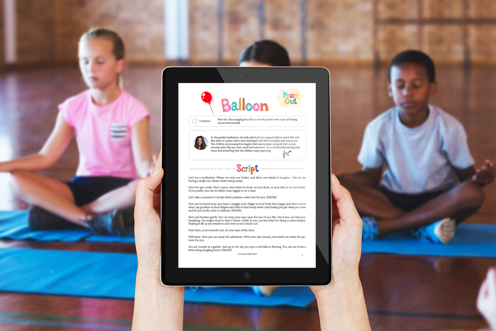 Using Meditation To Help Close >> Peace Out Guided Meditation Scripts For Kids Volume 1