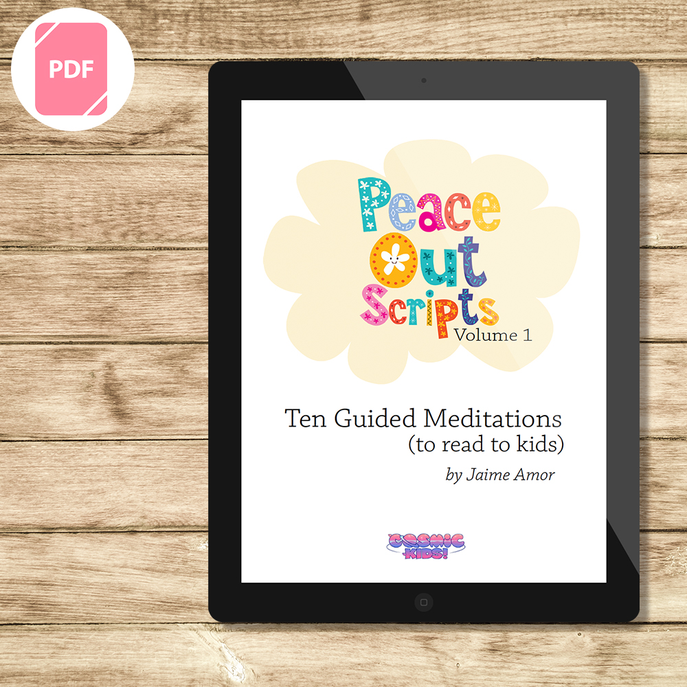 Peace Out Guided Meditation Scripts for Kids - Volume 1